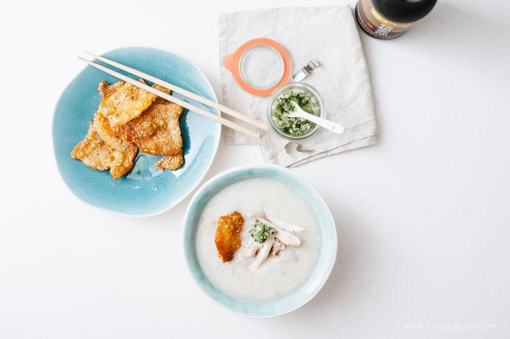 chicken congee recipe - www.iamafoodblog.com