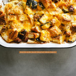 roasted acorn squash bread pudding recipe - www.iamafoodblog.com