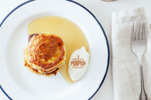 chocolate pumpkin pancake recipe - www.iamafoodblog.com