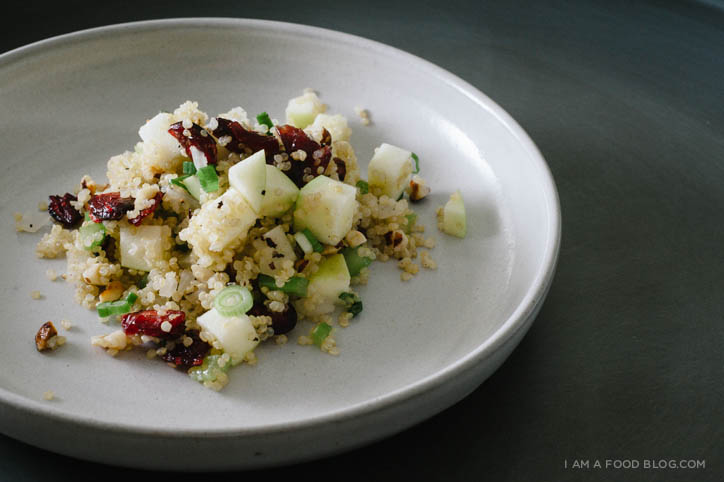 Quinoa Salad with Hazelnut, Apple and Dried Cranberries - www.iamafoodblog.com