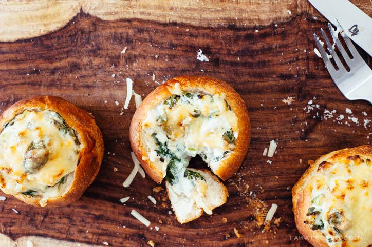 mini jalapeño spinach bowl recipe - www.iamafoodblog.com