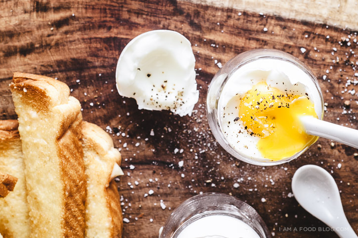 miso butter toast and soft boiled eggs - www.iamafoodblog.com