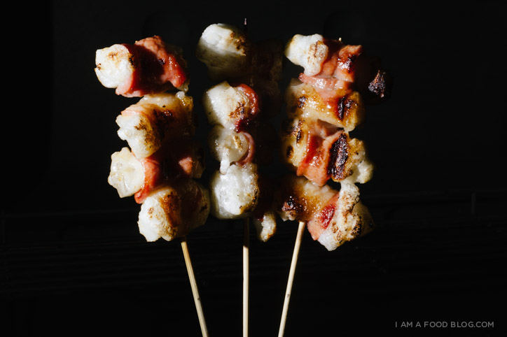 bacon wrapped mochi recipe - www.iamafoodblog.com