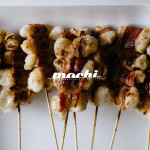 bacon wrapped yaki mochi recipe - www.iamafoodblog.com
