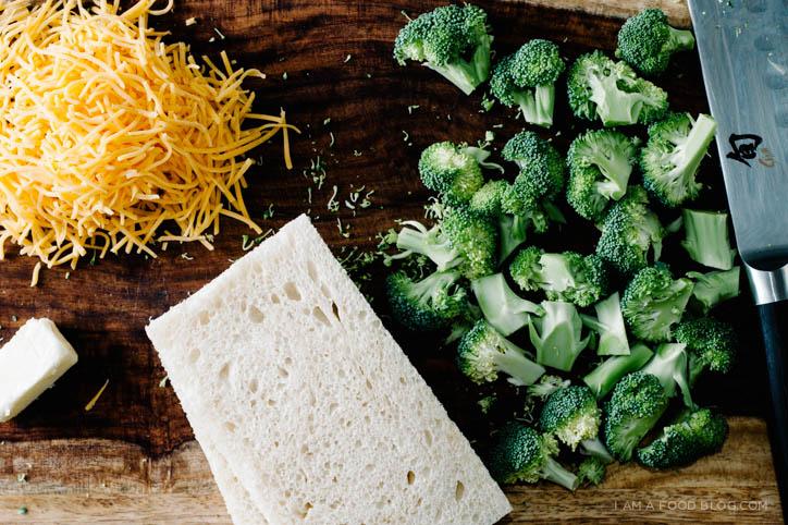 broccoli & cheddar grilled cheese - www.iamafoodblog.com