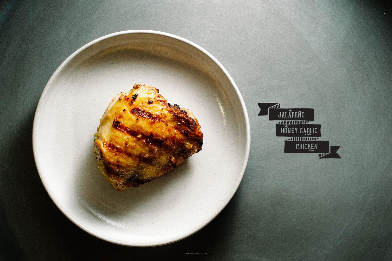 Jalapeno Honey Garlic Chicken Thighs | www.iamafoodblog.com