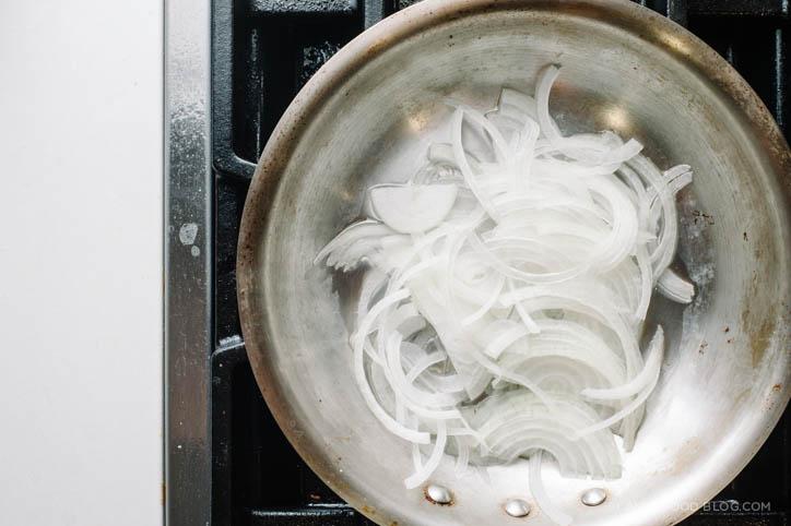 mushroom onion tart recipe - www.iamafoodblog.com