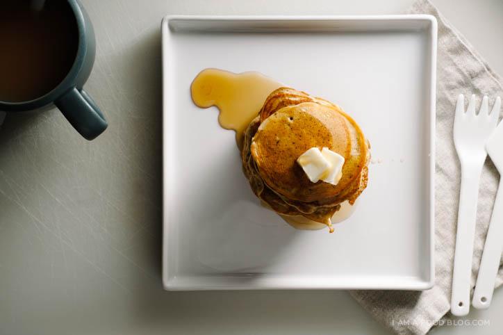 earl grey tea latte pancake recipe - www.iamafoodblog.com