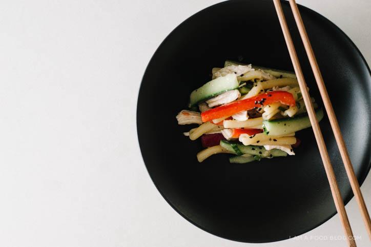 miso pasta salad recipe - www.iamafoodblog.com