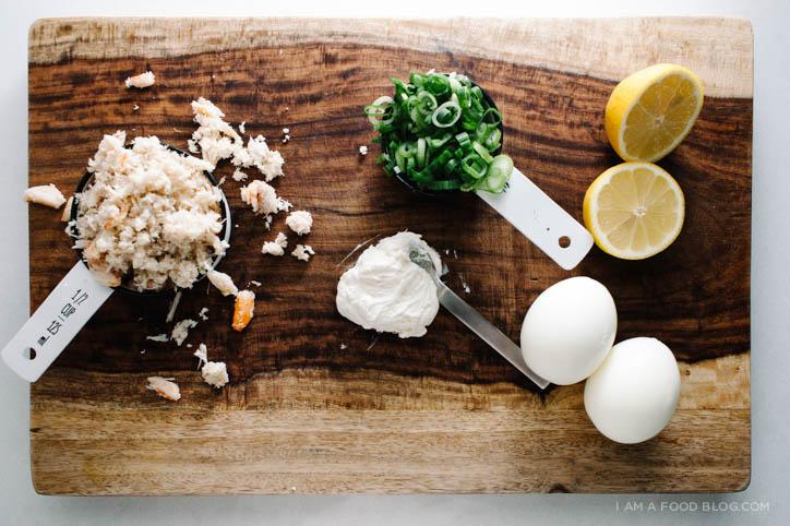 crab rangoon deviled egg recipe - www.iamafoodblog.com