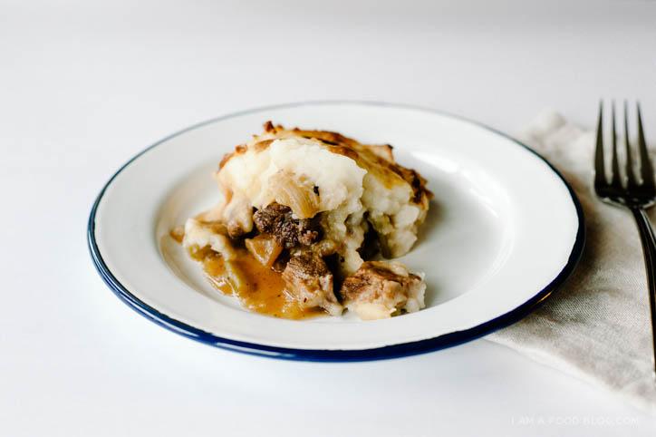 potato topped irish beef stew recipe - www.iamafoodblog.com