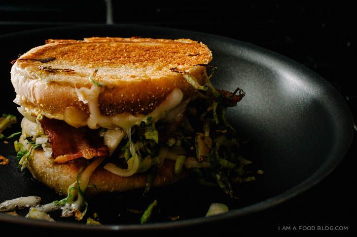 brussel sprout grilled cheese recipe - www.iamafoodblog.com