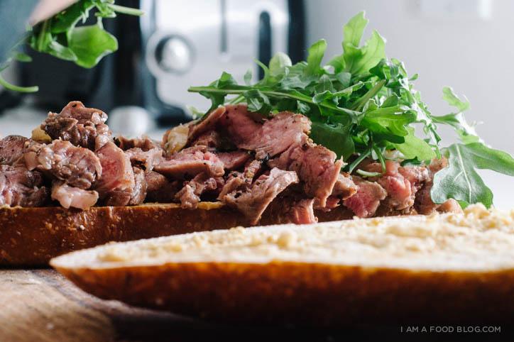 steak and egg sandwich recipe - www.iamafoodblog.com