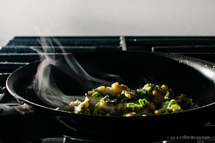 easy asparagus omelette - www.iamafoodblog.com