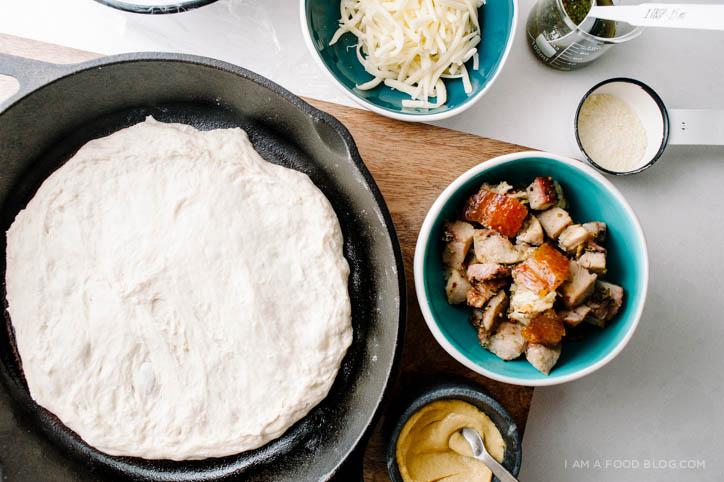porchetta pizza recipe - www.iamafoodblog.com