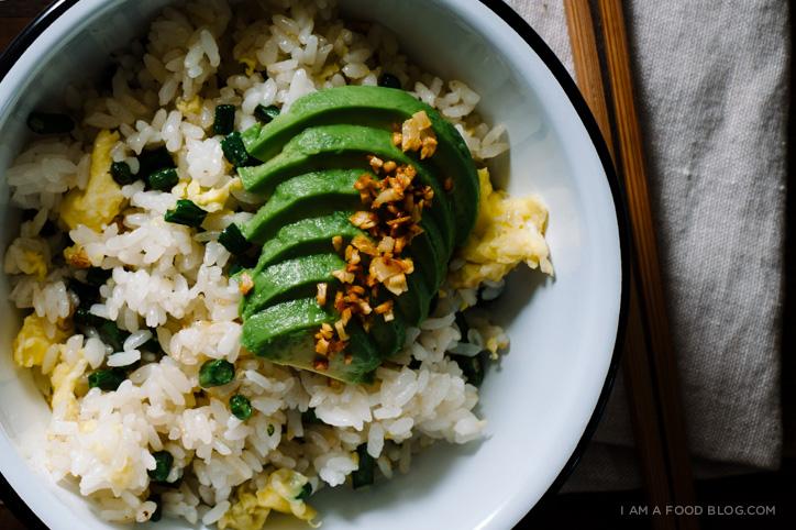 green bean avocado fried rice recipe - www.iamafoodblog.com