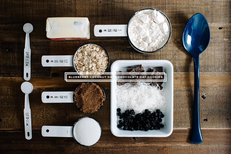 blueberry, coconut, dark chocolate oat cookie recipe - www.iamafoodblog.com