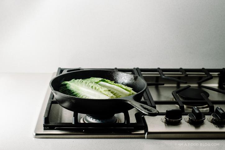 grilled romaine salad recipe - www.iamafoodblog.com