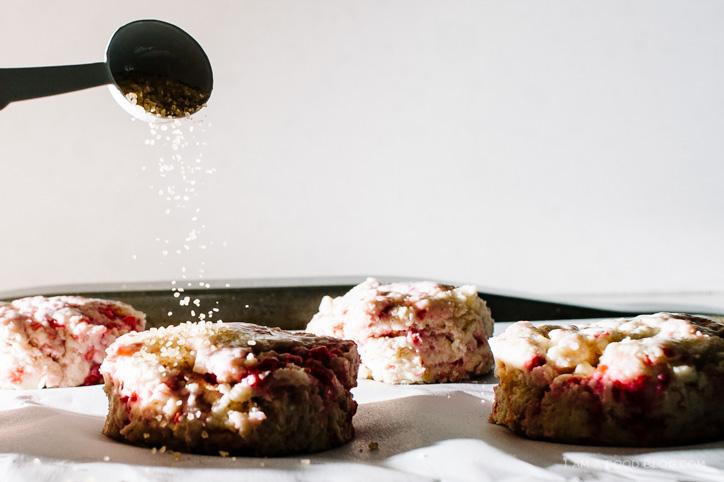 lemon raspberry cream scones - www.iamafoodblog.com