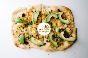 pea and avocado pizza recipe - www.iamafoodblog.com