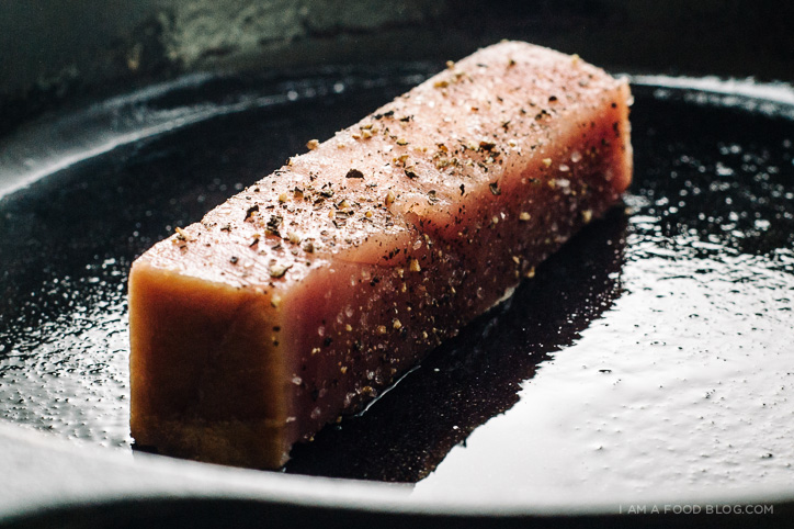spicy tuna toast recipe - www.iamafoodblog.com