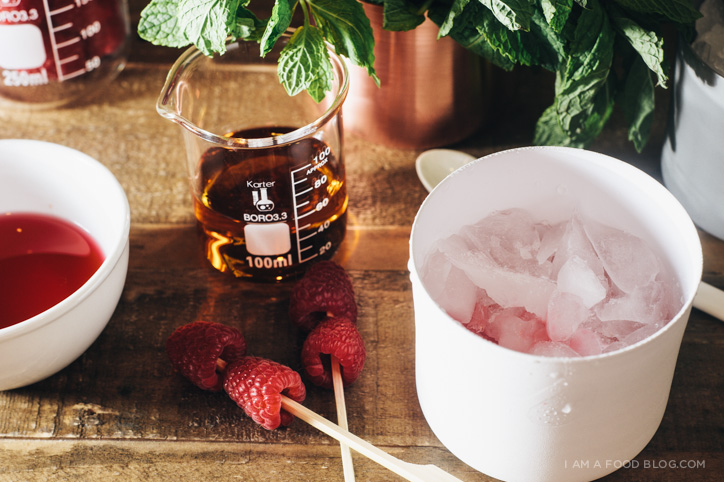 raspberry mint julep recipe - www.iamafoodblog.com
