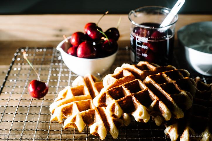 bourbon cherry waffle recipe - www.iamafoodblog.com