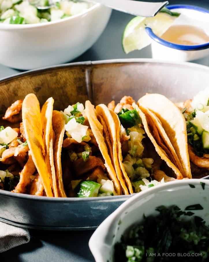 caramelized pork taco recipe - www.iamafoodblog.com