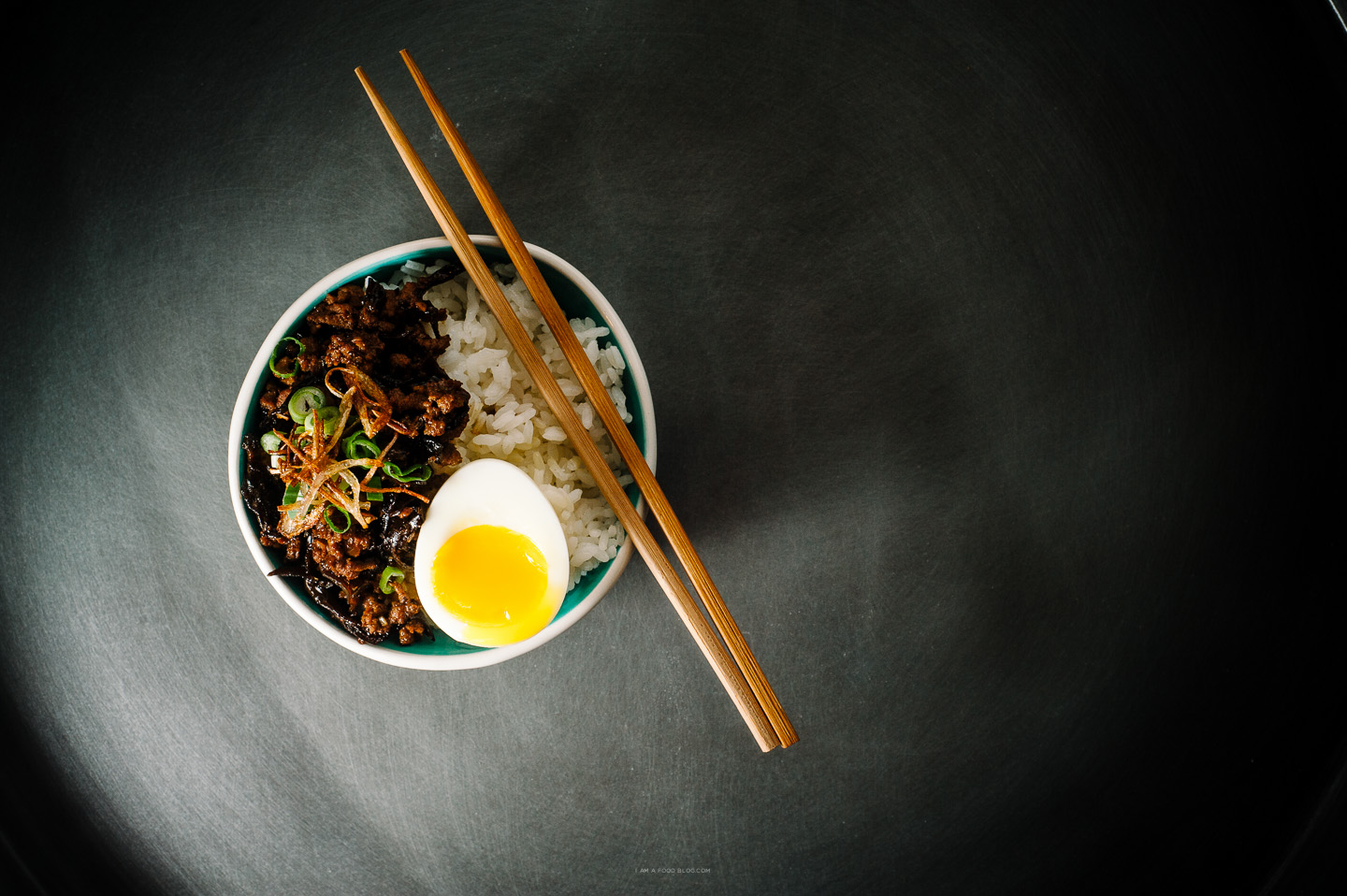 chinese meat sauce and rice recipe - www.iamafoodblog.com