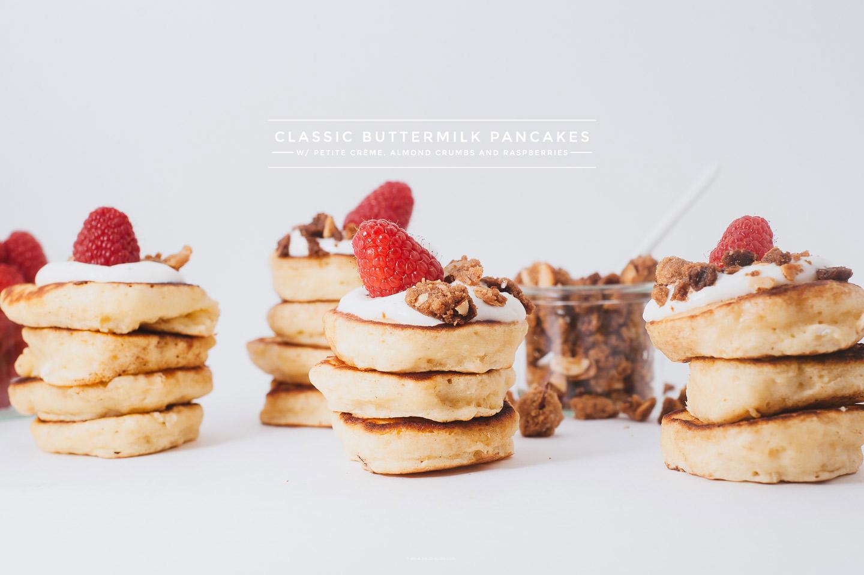 raspberry crumble pancake recipe - www.iamafoodblog.com