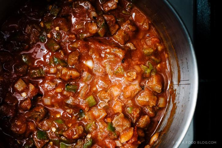 hatch chili and cornbread waffles - www.iamafoodblog.com