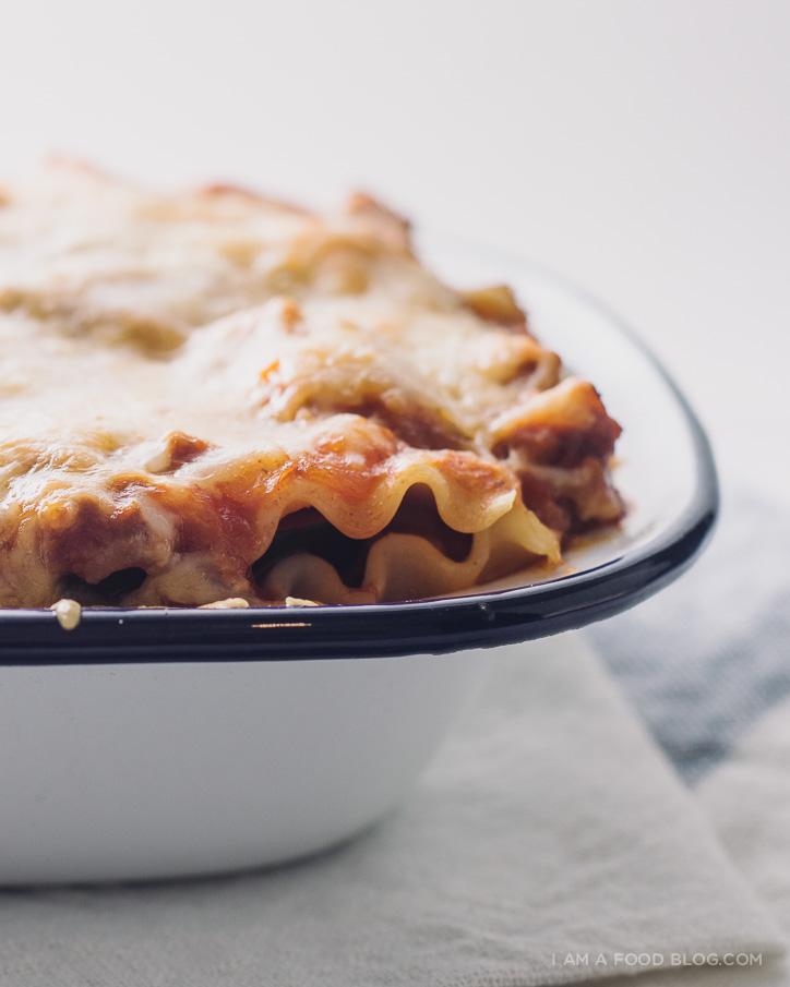 acorn squash lasagna recipe - www.iamafoodblog.com