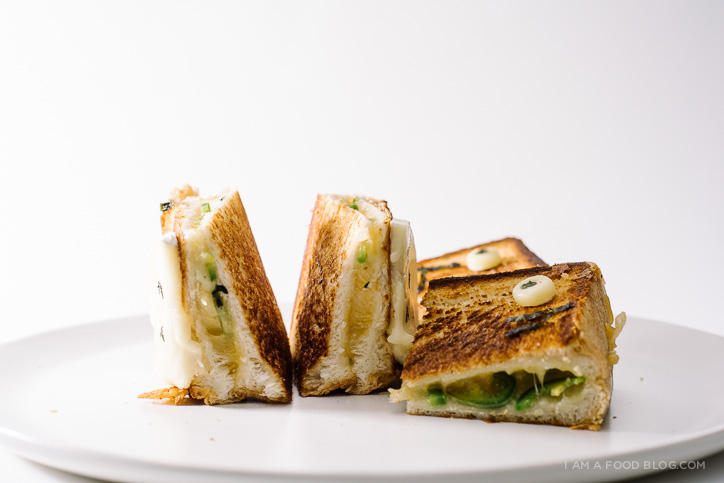 totoro jalapeno grilled cheese recipe - www.iamafoodblog.com