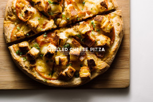 grilled cheese pizza recipe - www.iamafoodblog.com