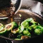 honey garlic sprouts recipe - www.iamafoodblog.com