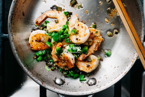 spicy salt and pepper shrimp recipe - www.iamafoodblog.com