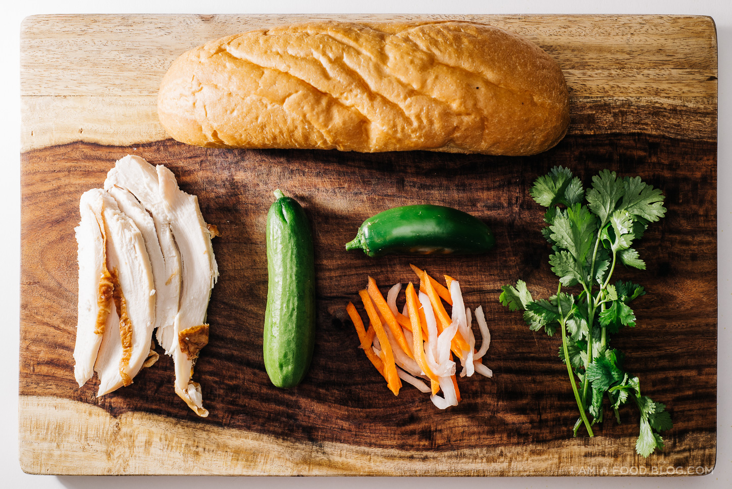 egg and turkey breakfast banh mi recipe - www.iamafoodblog.com