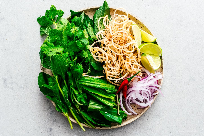 toppings for bun bo hue | www.iamafoodblog.com