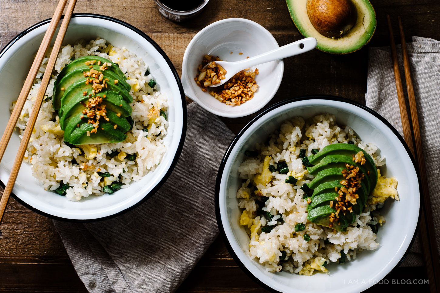 avocado green bean fried rice - www.iamafoodblog.com