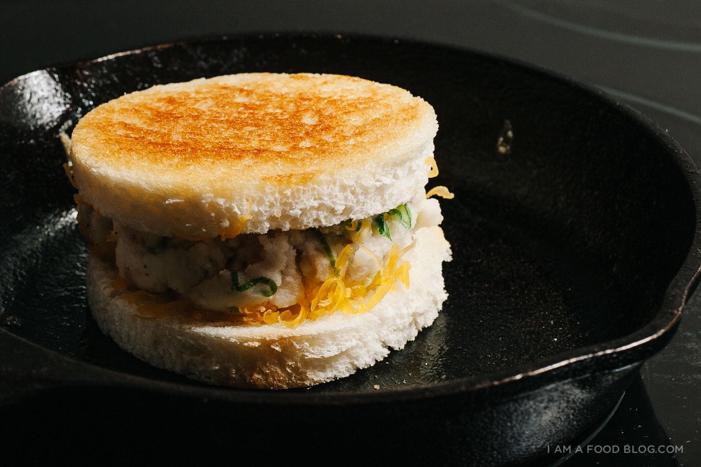 pierogi grilled cheese recipe - www.iamafoodblog.com