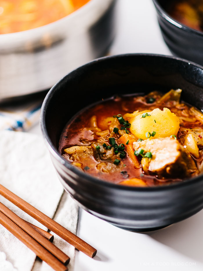 pork belly kimchi stew recipe - www.iamafoodblog.com