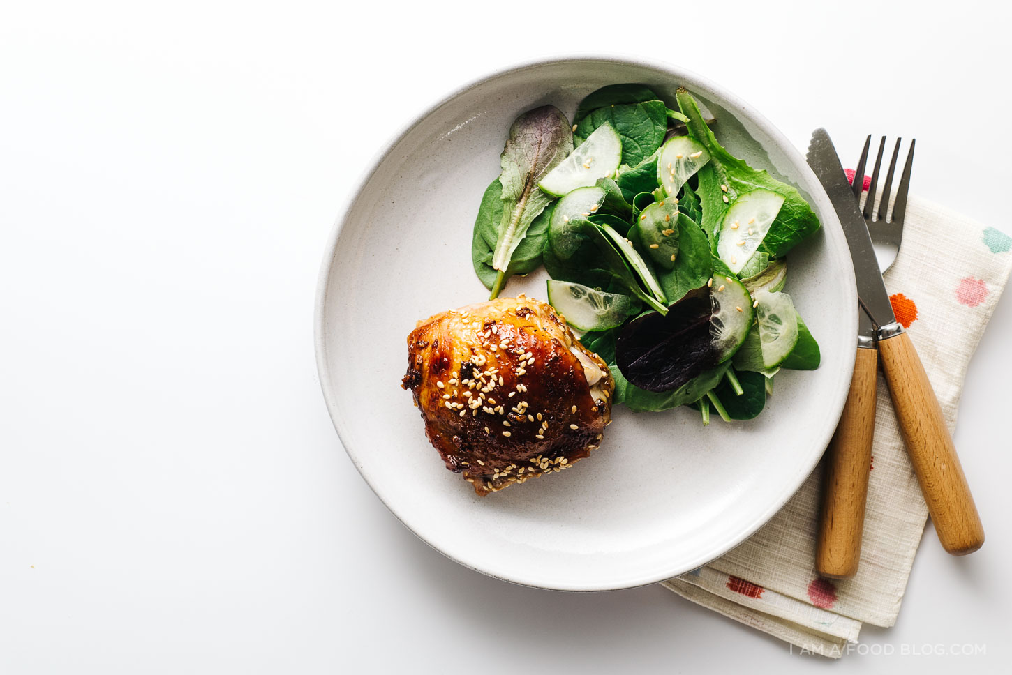 Easy Oven Baked Sesame Chicken Thighs I Am A Food Blog I Am A Food Blog