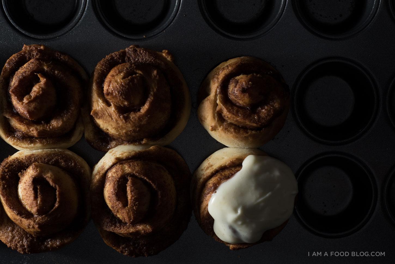 quick and easy mini cinnamon buns -www.iamafoodblog.com