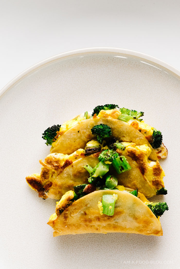 broccoli breakfast quesadillas www.iamafoodblog.com