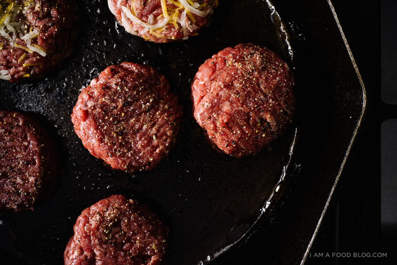 sliders with jalapeno burger sauce - www.iamafoodblog.com