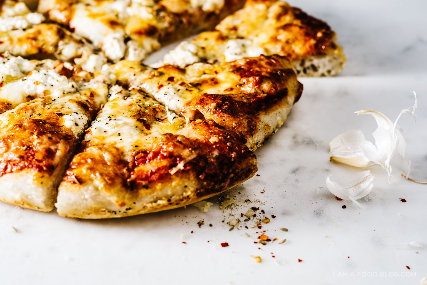 four cheese pizza recipe - www.iamafoodblog.com