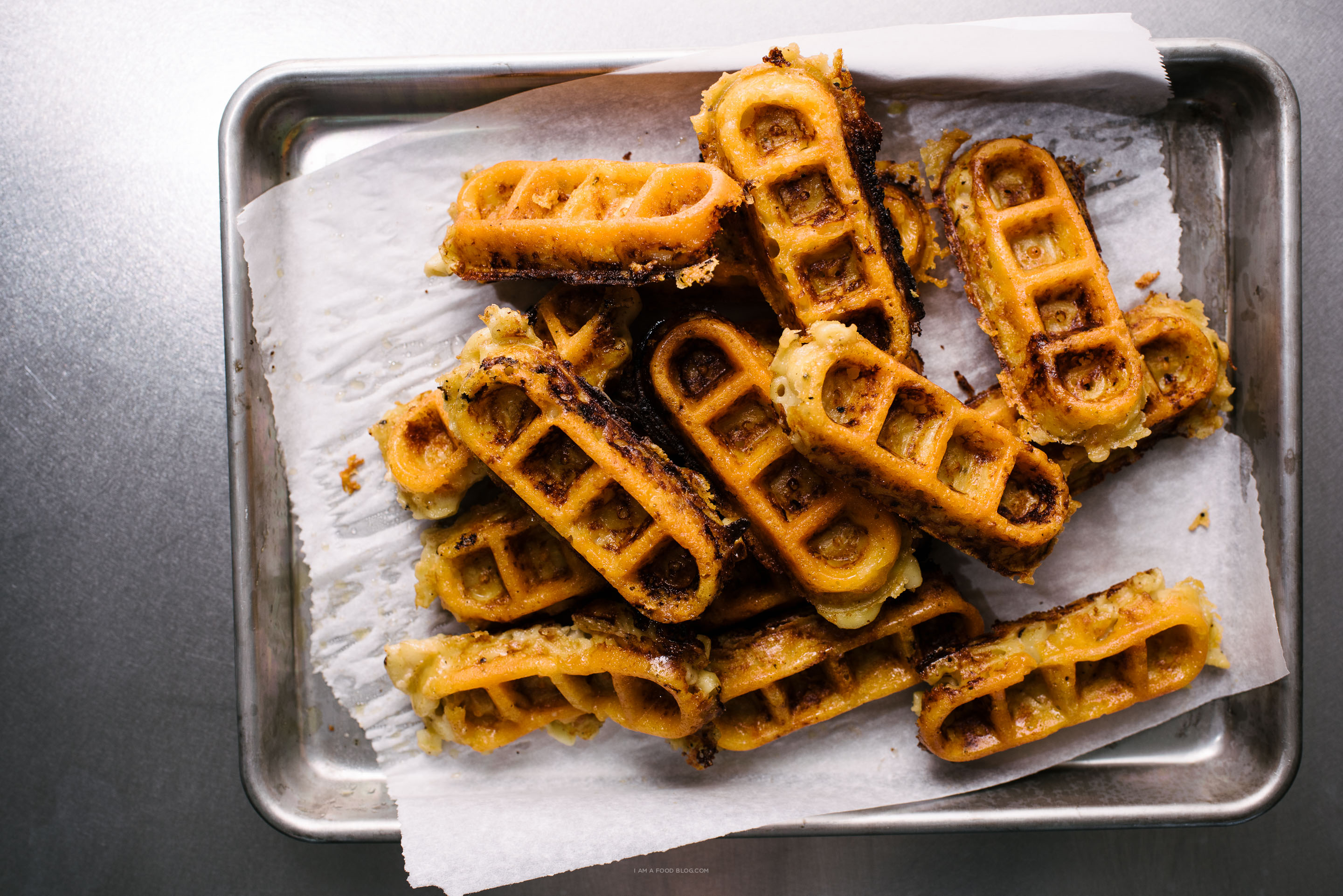 mac and cheese waffles - www.iamafoodblog.com