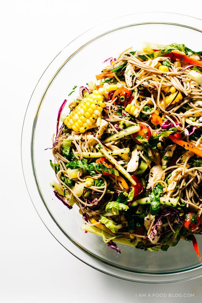 cold summer soba salad - www.iamafoodblog.com