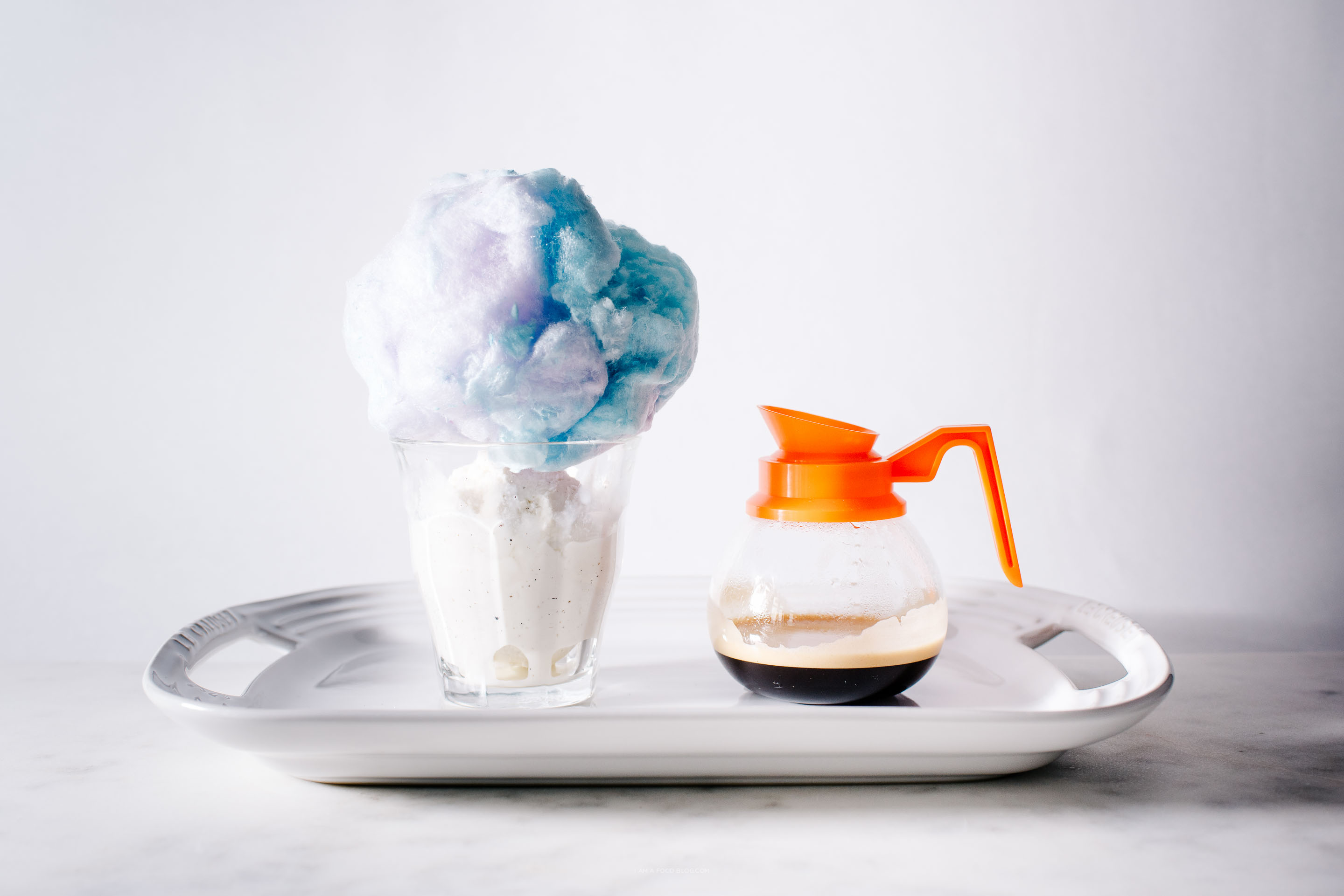 cotton candy affogato recipe - www.iamafoodblog.com