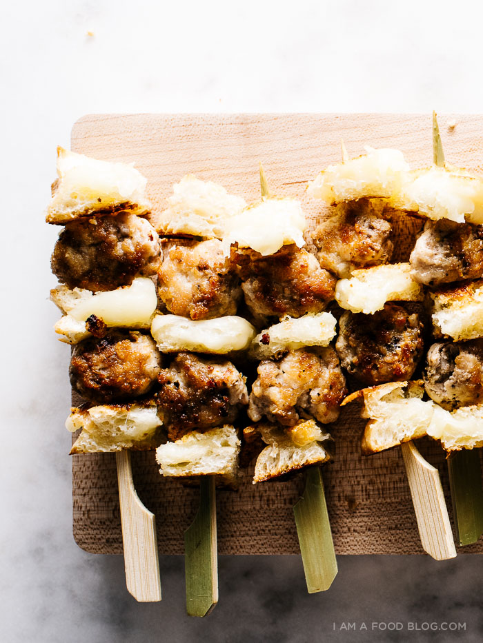 chicken & grilled cheese skewers - www.iamafoodblog.com